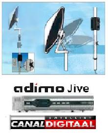 Sateliet Ufo-schotel 65 cm met:     Adimo receifer  voor  vaste montage op camper en caravan