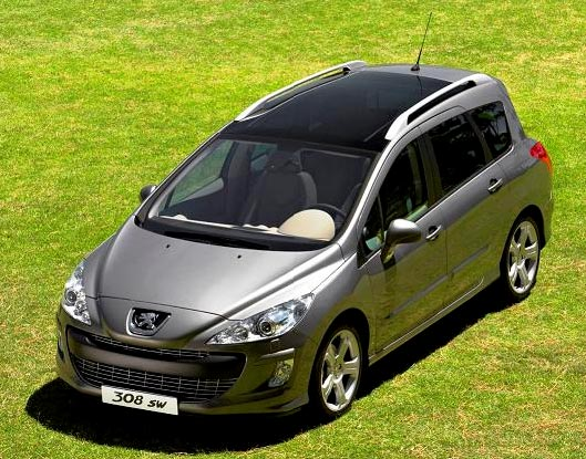 car news and cars gallery peugeot 308 sw 2009. Black Bedroom Furniture Sets. Home Design Ideas