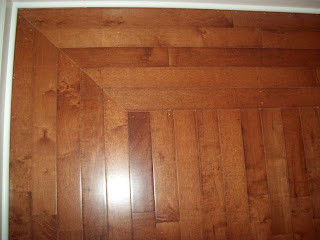 A Picture Frame Hardwood Floor In New Construction Home The Georgetown Landing Subdivision Ooltewah Corners Ended Up At Full 90 Degrees With