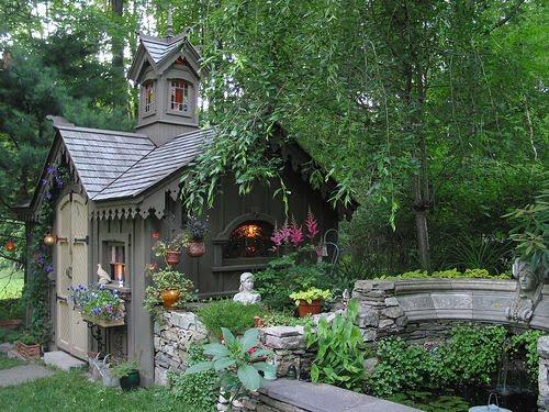 Design Love Chic Garden Shed Inspiration