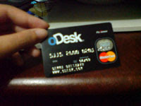 my Payoneer card