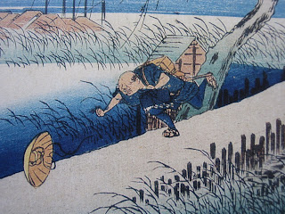 Hiroshige Ando: Yokkaichi, particolare
