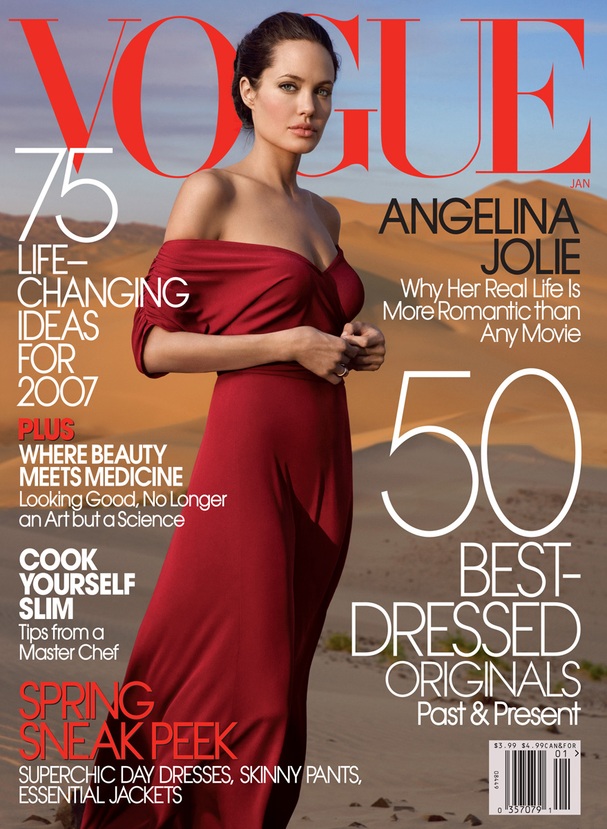 Vogue The Top Selling Fashion Magazine: Styles Up!: Angelina Jolie In Vogue