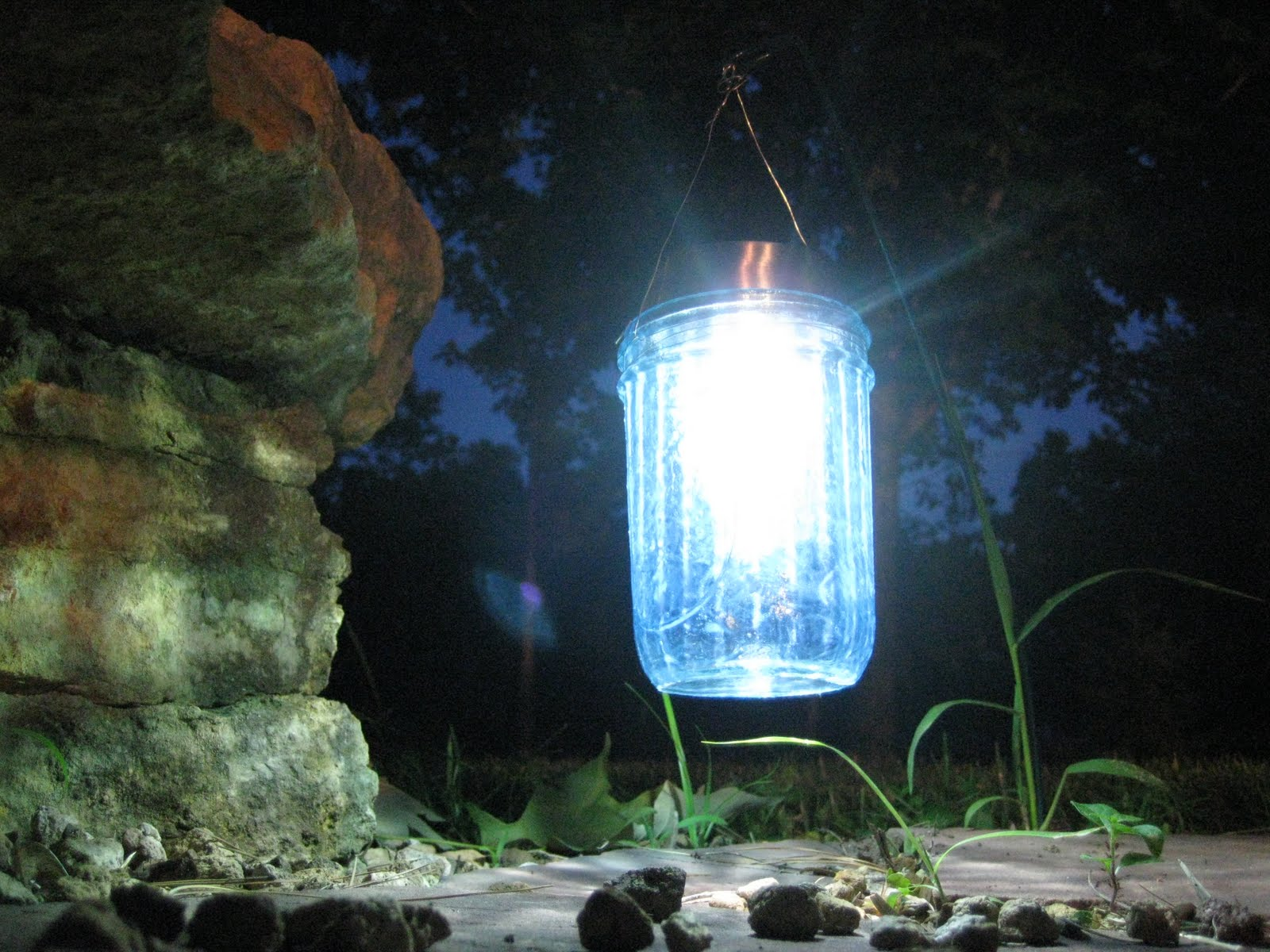 Solarlicht Garten Kreations Done By Hand Diy Mason Jar Solar Lights