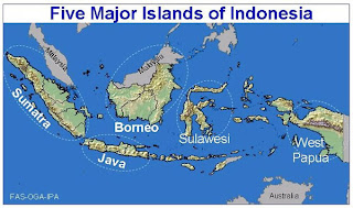Five Major Islands of Indonesia