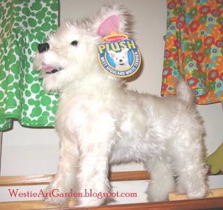 Westie Art Garden Westie Dog Stuffed Animal Doll Toys