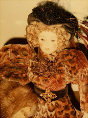 Victorian Lady Doll With Mink Muff