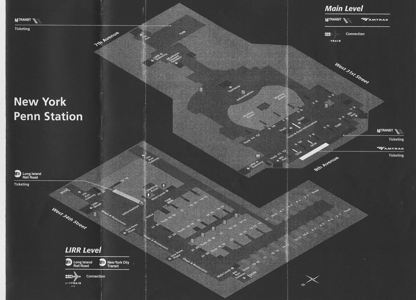Map Of New York Penn Station.Penn Station Pathfinder Ephemera