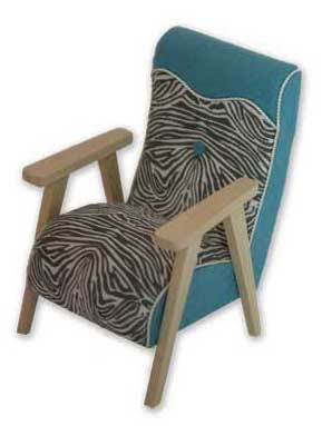 Modern dolls' house miniature mid-century modern arm chair.