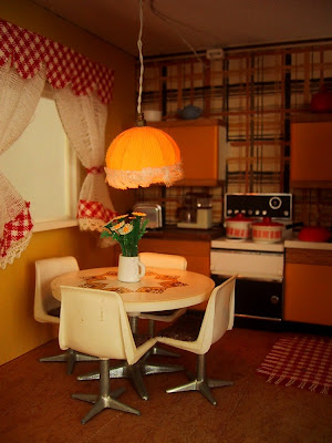 Vintage Lundby dolls' house kitchen.