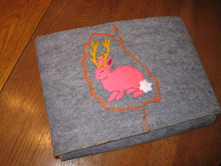 Jackalope Felt Laptop Cozy