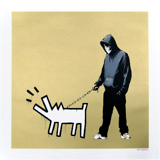Banksy Choose Your Weapon Print Gold