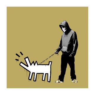 Banksy Choose Your Weapon Print Khaki