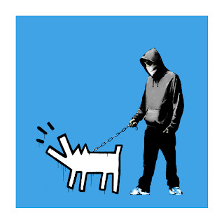 Banksy Choose Your Weapon Print Sky Blue
