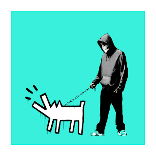 Banksy Choose Your Weapon Print Turquoise