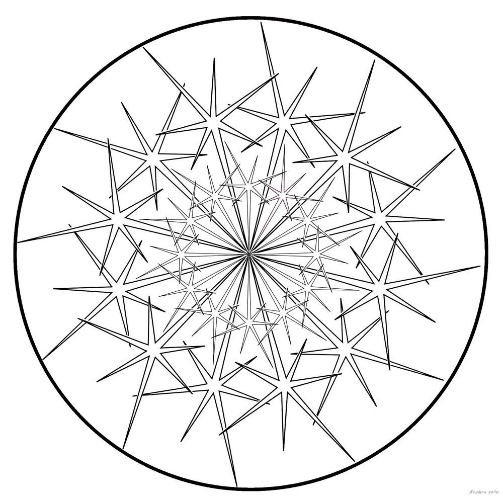 Acodero Graphisme Un Mandala Etoile