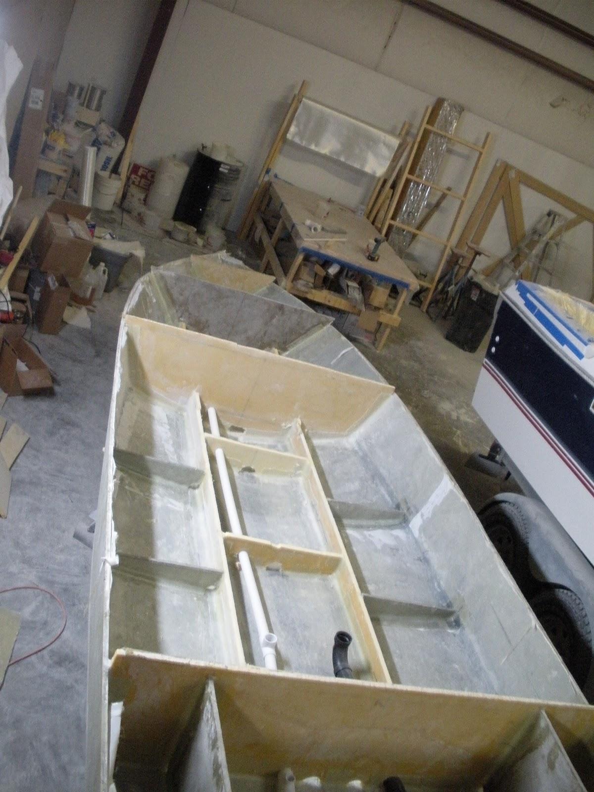 Custom Flats Boat Build Cross Members For Stringers