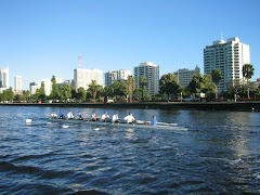 early morning rowers, Swan River, Perth