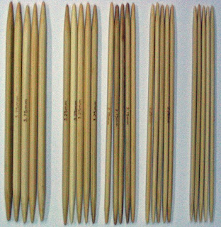 4-inch bamboo double point needles