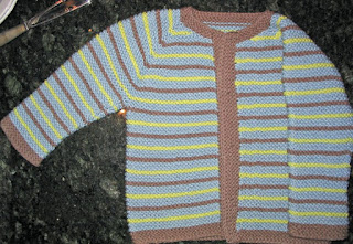 Top-Down Baby Raglan in Garter Stitch