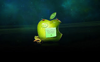 Apple Logo and Frog
