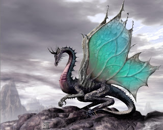 Dragon With Green Wings