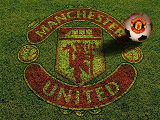 Manchester United on Grass Wallpaper