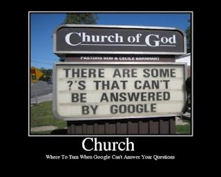 Cuando no funciona Google... ¡Usa la iglesia!