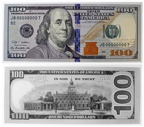 100 Dollar Bill Template