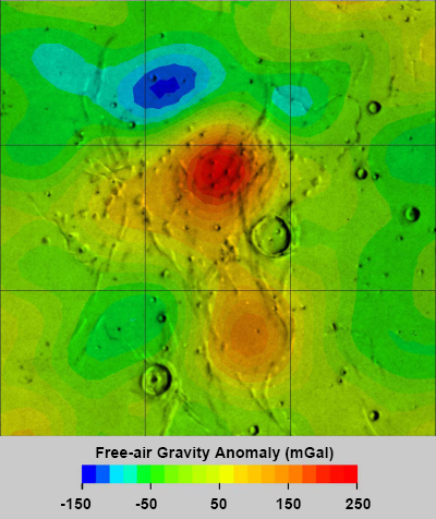 Gravity anomaly of the Marius Hills region of the Moon
