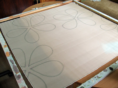 Silk painting technique - contours / tapyba ant šilko technika, kontūrai