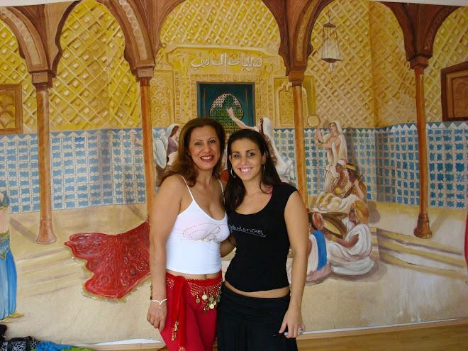 Marta Sonia (Zamira) y Petitte Jamilla durante seminario en Mexico