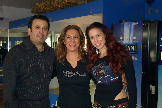 Marta Sonia(Zamira) con Jillina e Issam Housam del grupo Belly Dance Superstars