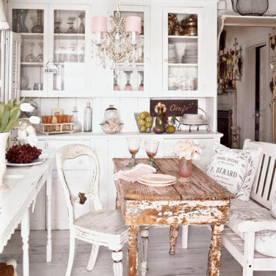 shabby Chic Chic and inviting French united states Charming interiors Curtains Decorating Ideas | DECORATING IDEAS - Small Country Chic Kitchen Curtains