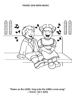 Psalm 100 kjv coloring pages ~ Bible Club Ministry Blog: Name That Bible Tune