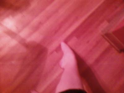 Foot when standing flat.