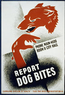 Report Dog Bites WPA poster