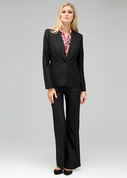 2f336eb0ebb Here are a few very cute pantsuits that I would recommend for a business  interview. This one is from Jones New York and I love how it is simple
