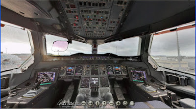 robinseeds: 3D View of the Airbus A380 Cockpit
