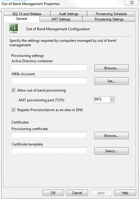 Step by Step guide for provisioning Intel VPro clients in SCCM 2007