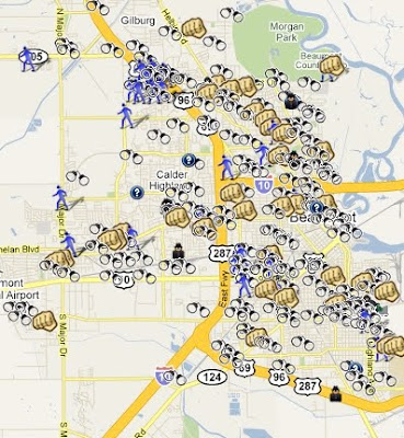 Map Of Beaumont Texas.Spotcrime Is Mapping Crimes In Beaumont Texas Spotcrime The