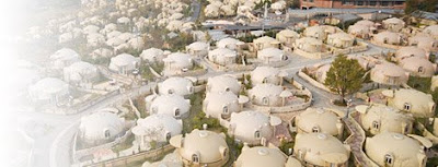 Landscape is Ekemode: Styrofoam - Japan Dome Houses