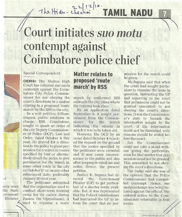 Court comes to the aide of RSS