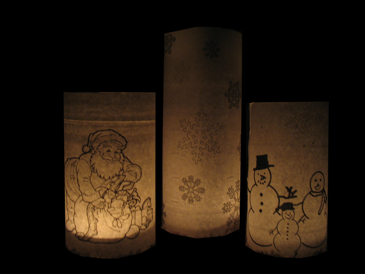 not just decorating pottery barn inspired christmas luminaries free printables. Black Bedroom Furniture Sets. Home Design Ideas