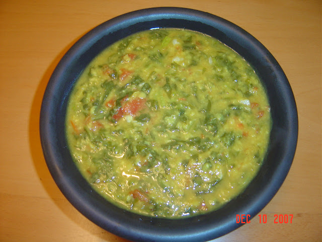 Dal with greens