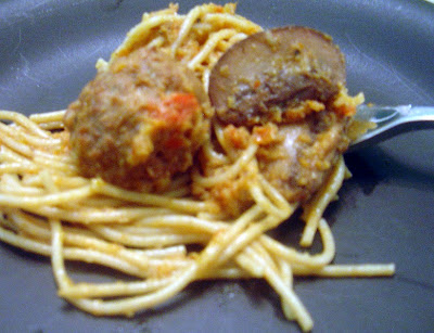 Spaghetti with Sundried Tomatoes and Meatballs