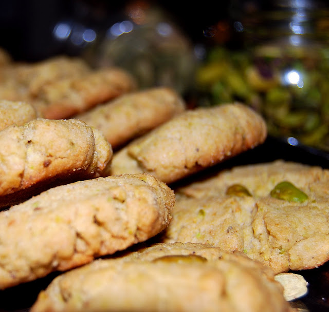 Pistachio Cardamom Shortbread