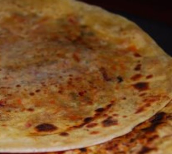 Paranthas stuffed with carrots and radishes, a vegan recipe