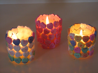 Convrsation Heart Candles