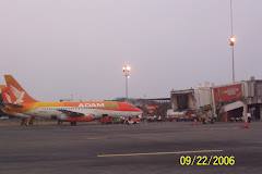 ADAM AIR, at Hasanudin airport